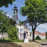 Katrin und Pierre im Schloss Hubertusburg in Wermsdorf