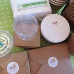 Umweltfreundliche Smoothies, Suppen, Salaten, Pasta, Mini Desserts Verpackungen