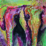 Elefanten - Papiertechnik