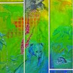 Collage 140 x 62 cm