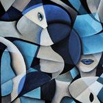 """""""Blau"""", Acryl auf Leinwand, 50x70cm"""