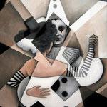 """Taktgefühle"", Acryl auf Leinwand, 50x70cm"