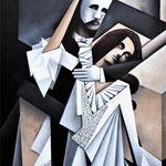 """""""Das Phantom und die Traurigkeit"""", Acryl auf Leinwand, 60x80cm"""