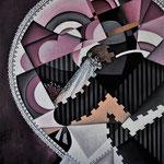 """""""Mutprobe"""", Acryl auf Holz/Leinwand, spezielles Format, ca. 60x80cm"""