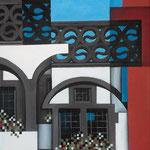 """Turmstrasse"", Acryl auf Leinwand, 50x70cm"