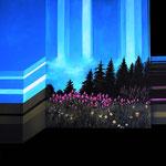 """""""Kandelblume"""", Acryl auf Leinwand, 80x100cm"""