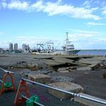 相馬港:地面が陥没