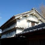 安芸市の土蔵 武家屋敷が多く残る歴史ある街並み。