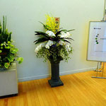 会場に届いた花束
