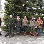 v.l.:Detlef, Rudi, Mathilde, Angelika, Liesel, Brigitte, Werner. Heinrich hat fotografiert