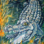cocodrillo - Acryl auf LW/KR, 40 x 80 cm