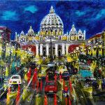 Roma, Acryl auf Papier, 40 x 30 cm - WVZ 2019-01