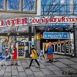 150 - Theater am Kurfürstendamm. Acryl auf LW/KR, 20 x 15 cm