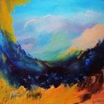 Durchblick - WVZ 2014 -25 - Acryl auf LW/KR, 60 x 50 cm