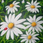 Glücksbringer, Acryl auf LW/KR, 50 x 50 cm