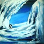 Eiszeit, Acryl auf LW/KR, 50 x 50 cm