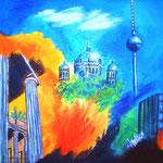 Berlin komplett -2- Acryl auf LW/KR, 40 x 40 cm