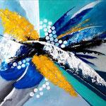 allegro - WVZ 2018 - 16, Acryl auf starkem Papier, 30 x 40 cm