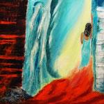 am Morgen danach - 60 x 40 cm, Acryl auf LW/KR