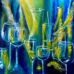 feste feiern - Acryl auf strukturierter LW/KR, 40 x 40 cm - WVZ 2012-10