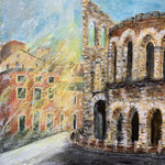 Verona, Acryl auf Papier, 40 x 30 cm - WVZ 2020-05