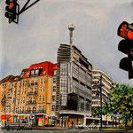 187 - Adenauer Platz, Acryl auf LW/KR, 15 x 15 cm
