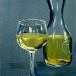 un mezzo bianco - Acryl auf LW/KR, 24 x 30 cm