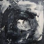 la grotta nera -WVZ 2014-13 - Acryl gespachtelt auf L/KR, 20 x 20 cm