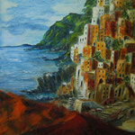 Riomaggiore - Acryl auf strukturierter Leinwand/Keilrahmen, 60 x 50 cm - WVZ 2012-33