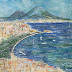 dem Vesuv zu Füßen, Acryl auf Papier, 30 x 40 cm - WVZ 2020-04