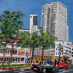 178 - die neuen Gigenten der City West, Acryl auf LW/KR, 15 x 15 cm
