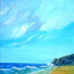 ein Tag am Meer, Acryl auf LW/KR, 80 x 80 cm