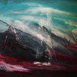 Lichtblicke - Acryl auf Malpappe, 50 x 40 cm