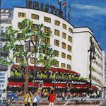 177 - Hotel Bristol, Fasanenstraße - Acryl auf LW/KR, 15 x 15 cm