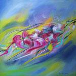 Flirt mit dem Wind - WVZ 2014-01 - Acryl auf LW/KR, 50 x 50 cm