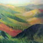 Toscana im Herbst - Acryl auf Leinwand/Keilrahmen, 50 x 60 cm - WVZ 2013-11