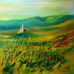 colline incantate, Acryl auf Leinwand/Keilrahmen, 40 x 40 cm - WVZ 2016-04 -verkauft -