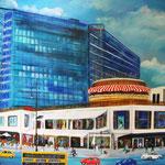 meine Stadt -3- das neue Kranzler Eck, Acryl auf LW/KR, 100 x 80 x 4 cm