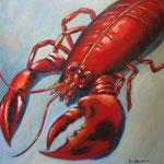 il gambero del mare -3-  Acryl auf LW/KR, 60 x 60 cm