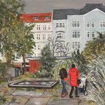 159 - Olivaer Platz, Acryl auf LW/KR, 15 x 15 cm