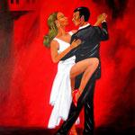 Tango argentino, Acryl auf LW/KR