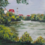 158 - Lietzensee 2, Acryl auf LW/KR 15 x 15 cm