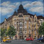181 - Commerzbank am Kudamm, Acryl auf LW/KR, 15 x 15 cm