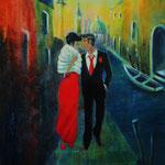 Verliebt in Venedig - Acryl auf starkem Malpapier, 40 x 30 cm -WVZ 2012-67
