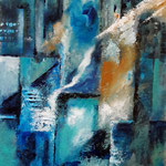o.T., Acrylauf Papier, 40 x 30 cm, WVZ 2019-15