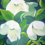 Christrosen -  Acryl auf LW/KR, 60 x 80 cm