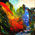 Zorn der Götter - WVZ 2014-22 - Acryl gespachtelt auf LW/KR, 50 x 50 cm