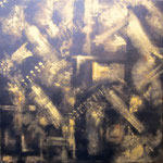 Goldstücke 3 - WVZ 2014-49 - Acryl auf Leinwand mit Keilrahmen, 40 x 40 cm