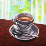 caffè lungo -2- Acryl auf LW/KR, 40 x 40 cm