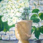 Mauerblümchen - Acryl auf LW/KR, 60 x 80 cm